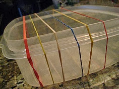 Thanks to a wonderfully creative music teacher at my children's Montessori school, the latest fad around our house are little homemade guitars/harps like ...