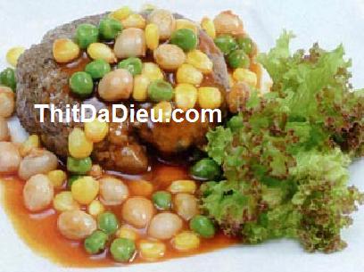 Đà điểu sốt đậu hạt
