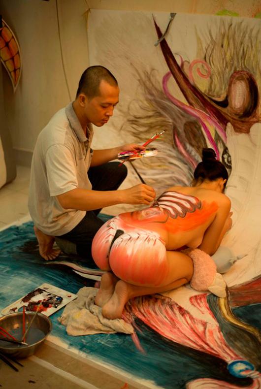 FPT Online sắp tung ảnh body painting quảng bá game 5