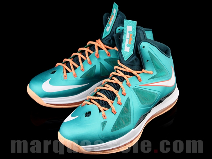 new style 2401e 57b12 ... First Look at Nike LeBron X 10 Miami Dolphins ...