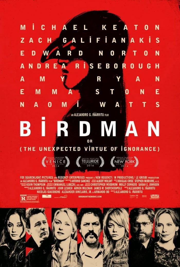 Η Απρόσμενη Αρετή της Αφέλειας (Birdman) Poster