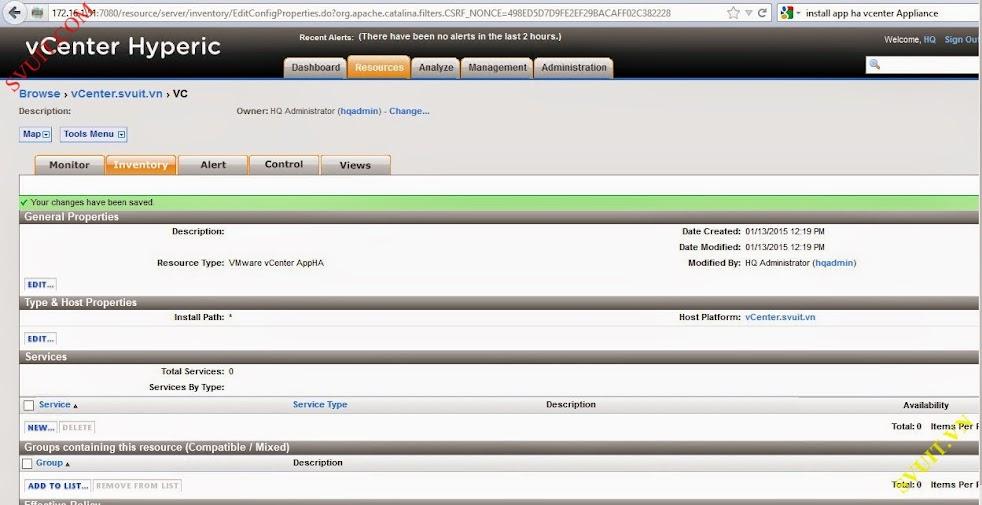 Configure vSphere vCenter Hyperic (10)