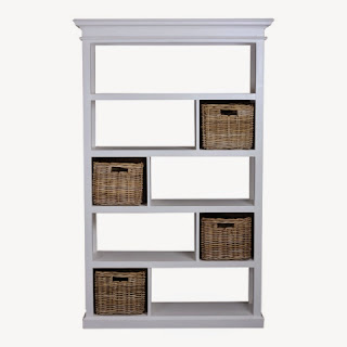 Rustic White Bookcase by Hampshire Furniture