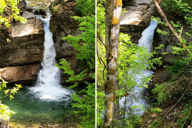 Wasserfall Ostertaltobel Gunzesried Naturpark Nagelfluhkette Allgäu