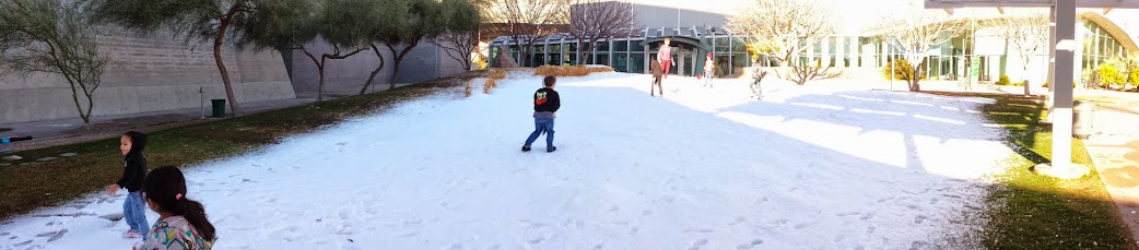 Arizona Science Center Snow Week Event Ice Now Produced