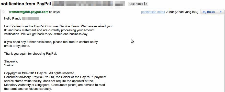 Verifikasi Paypal Menggunakan Bank Lokal 10
