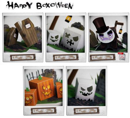Happy Boxoween Paper Toys