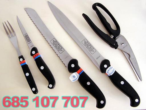 Set cuchillos de cocina con tijeras de