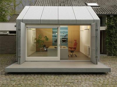 small space garage to home office conversion Mengubah Garasi Menjadi Kantor Rumah