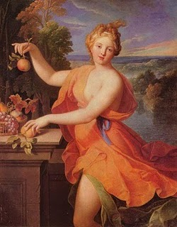 Pomona Roman Goddess Of Fresh Fruit Image