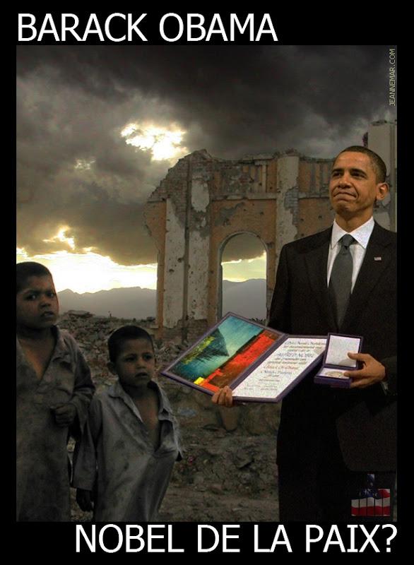 Barack Obama, prix Nobel de la paix.