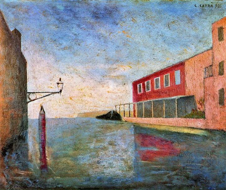 Carlo Carrà - Canal in Venice