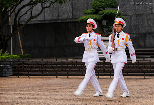 Guards at the Tomb of Ho Chi Min