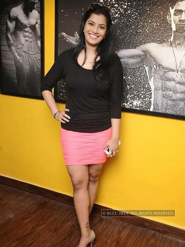 Varaxmi Sarathkumar at the launch of the fitness studio Body Shape in Chennai.
