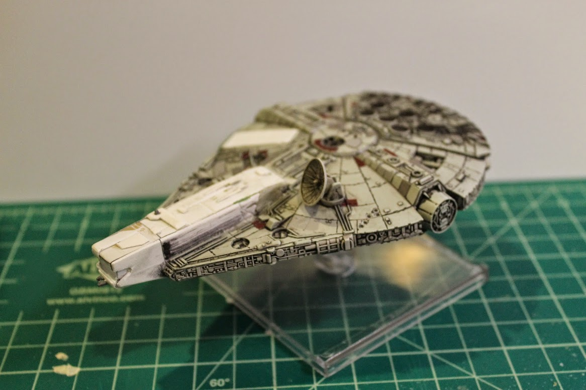 Left side view of the finished custom YT-1300.