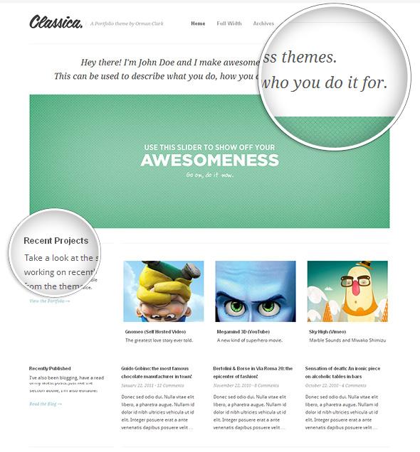 Classica Modern WordPress Theme with Beautiful Typography
