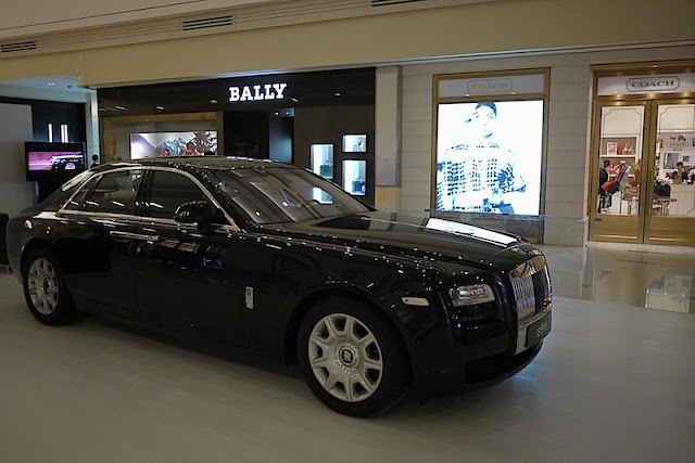 Rolls Royce displayed at the MixC in Shenzhen, China
