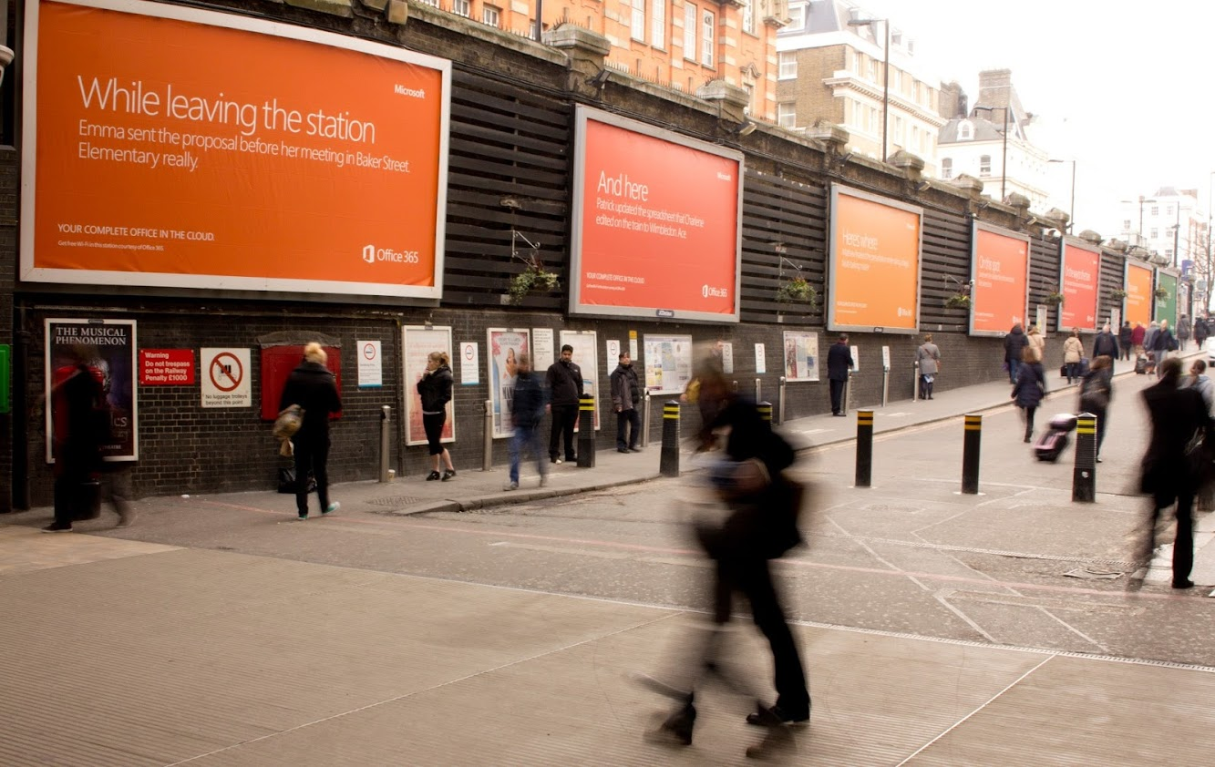 "Microsoft Office 365 ""Work From Here"" Campaign Takes Over UK Train Stations"