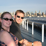 KD & Eric on their first trip into the city, via the ferry