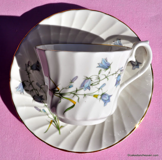Swirl Design Harebells Pattern Teacup and Saucer