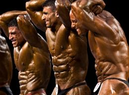 Sexy Male Bodybuilder On Stage Posedown