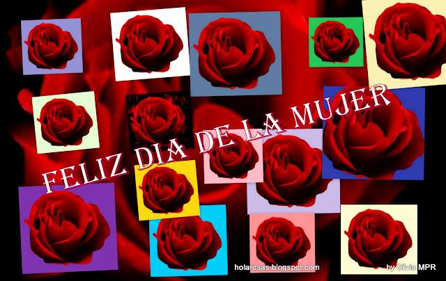 Para todas las mujeres del Mundo ¡ Feliz Dia ! Wallpapers de Rosas Rojas Regalos virtuales con imagenes de flores,  collages de fotos rosas rojas ,para enviar como regalo virtual ,o desgargar ,mensaje Feliz  Dia   de la Mujer .Dedicado este fondo de pantalla o de escritorio para todas las mujeres del mundo que ponen el corazon dia a dia por sus sueños y el sueño de quienes aman