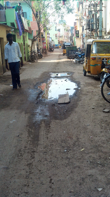 Eroded roads in VSM Garden Street, Saidapet