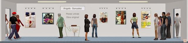 Sala de exposición virtual de pinturas de Ángels González