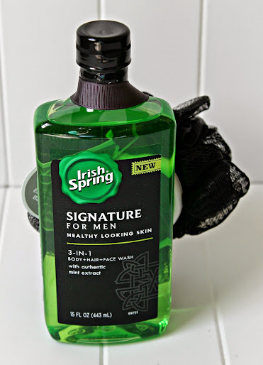 How to tame a military mans man sized smell pair a bottle of irish spring body wash with a scrubber for a quick easy negle Images