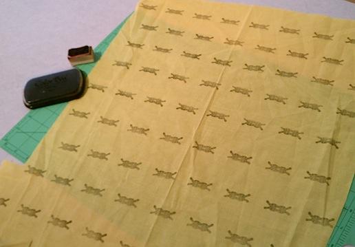 fabric gift wrap furoshiki DIY musubi stamped wrapping paper