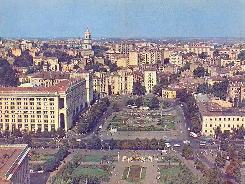 Майдан Незалежности 1967 год