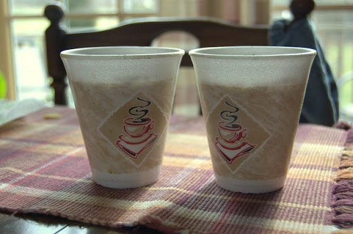 Styrofoam Coffee Cups for Seed Planting 1-2010-1