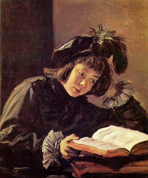 Frans Hals - Lesender Knabe