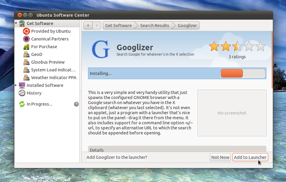 Googlizer Search Google From The Clipboard All Ubuntus