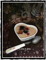 Crème de coco blancs au magret fumé et huile de truffe - recette indexée dans les Entrées