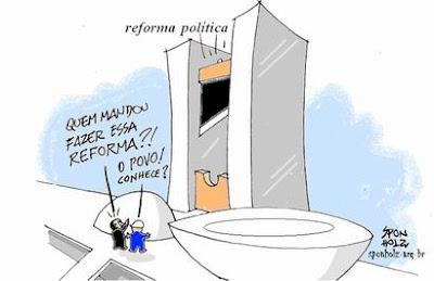 Resultado de imagem para reforma política charge