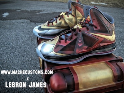 nike lebron 10 cs mache ironman 3 1 01 LBJ X Ironman 3 Custom Personalized Exclusively for Mr. James by Mache