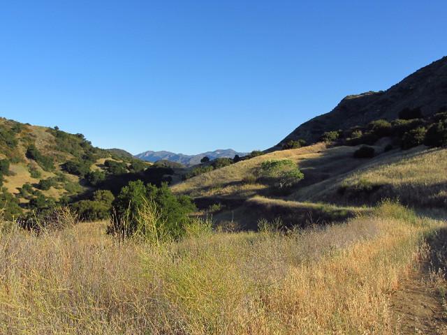 a bit of climbing road going down the Santa Ynez