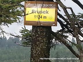 Brusek 1124 m n.p.m. szczyt Sudetów wschodnich