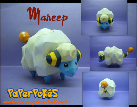 Pokemon Mareep Papercraft
