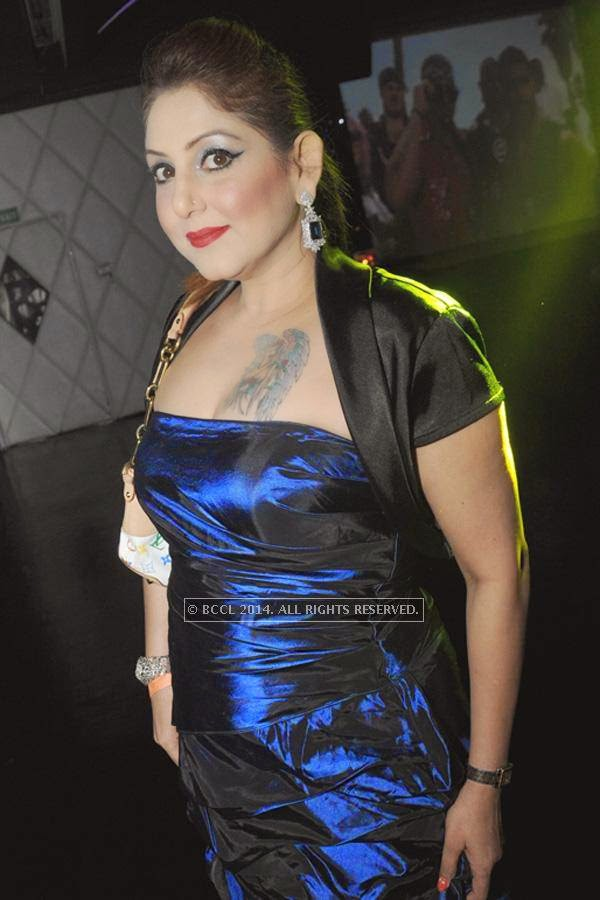 Meenakshi Dutt during the party, held at BW club, New Friends Colony.