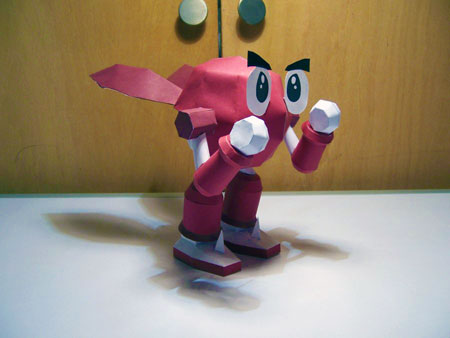 Robo Pit Papercraft RB Red
