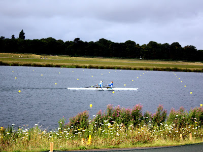 Rowers warming up in Eton Dorney
