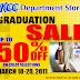 Graduation Sale at KCC Department Stores
