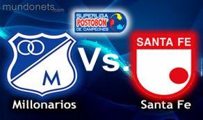 Millonarios Santa fe online vivo SUpercopa 24 Enero HORARIOS