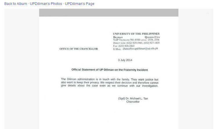 up diliman released statement on frat incident