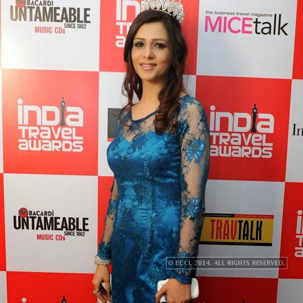Amita Motwani during India Travel Awards, held in Pune.