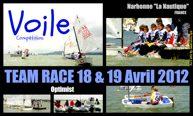 Optimist Voile course_par_équipe Team_race Narbonne La_Nautique Génération_Opti