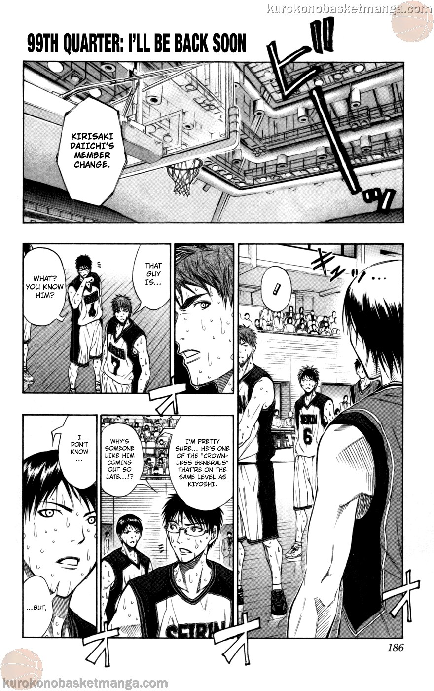 Kuroko no Basket Manga Chapter 99 - Image 01