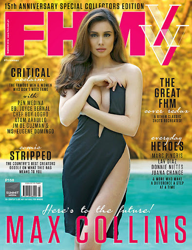 max collins is march 2015 fhm cover girl picture